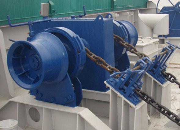 Anchor chain winch from Ellsen